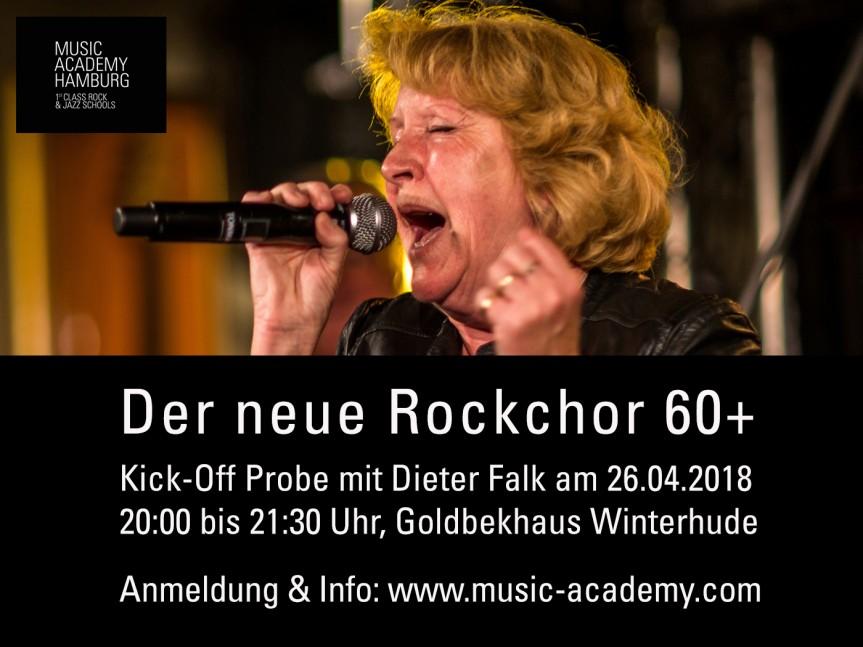 Kick off Probe Rockchor 60+ mit Dieter Falk  