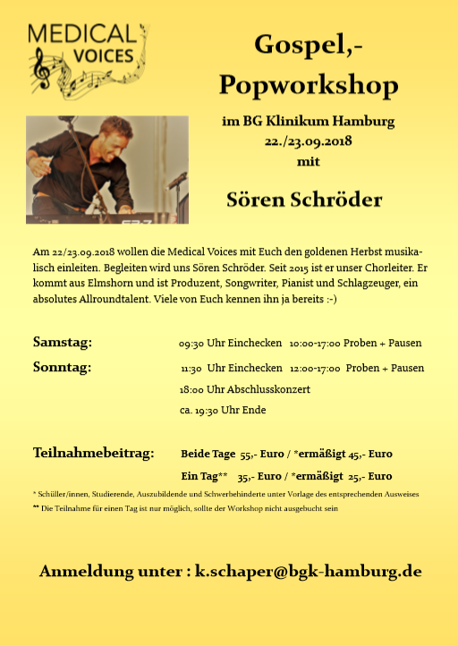 September-Workshop mit Sören Schröder  