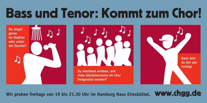 Chor Hamburger Gewerkschafter*innen: Mach bei uns mit – als Projektsänger!