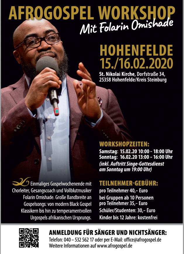 Afrogospel Workshop mit Folarin Omishade (Februar 2020)