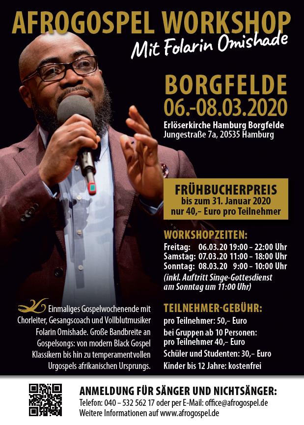Afrogospel Workshop mit Folarin Omishade (März 2020)