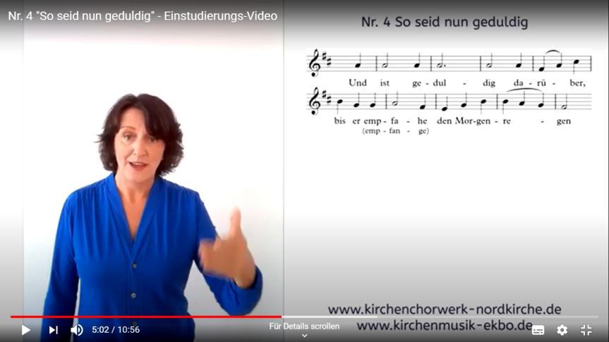 """""""So seid nun geduldig"""" – Das 4. digitale Mitsing-Projekt für Chorsängerinnen und Chorsänger von Christiane Hrasky"""
